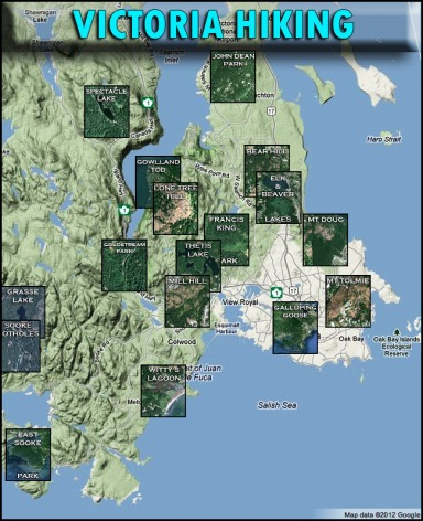 victoria bc hiking trails guide map